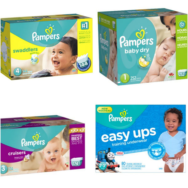 Huge saving on Pampers Diapers! Many sizes!