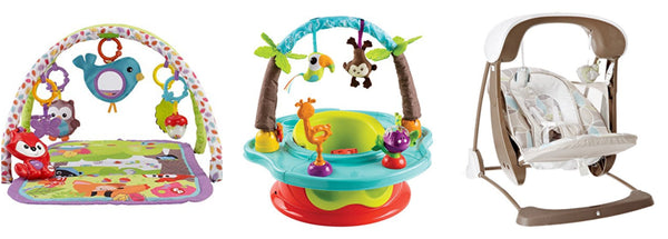 Fisher Price 3 in 1 gym, swing and seat and Summer Infant Safari