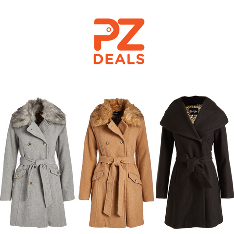 Jessica Simpson Faux Fur-Accent Coats