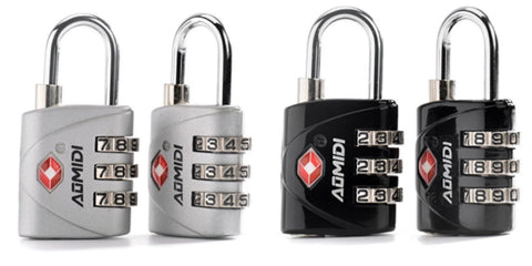 Pack of 2 TSA approved luggage locks