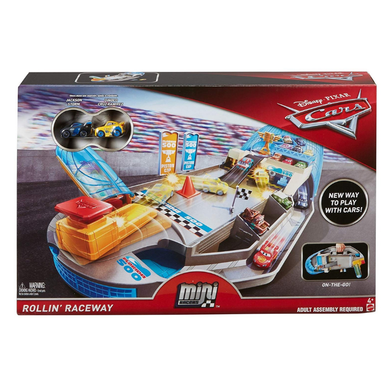 Disney Pixar Cars Mini Racers Rollin' Raceway Playset