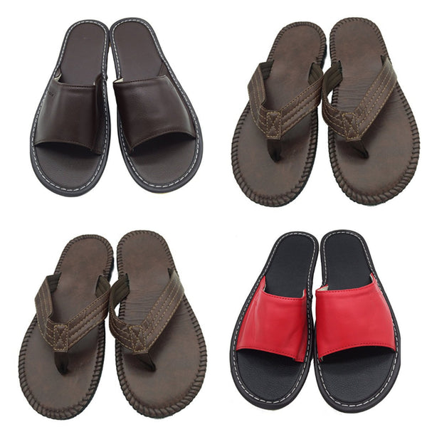 Leather flipflops or slippers