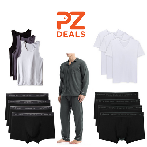 Up to 25% off David Archy underwear and sleepwear
