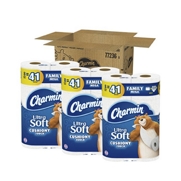 24 Mega Family Rolls of Charmin Ultra Soft Toilet Paper