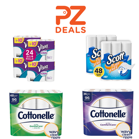 VIVA paper towel - Cottonelle and Scott toilet paper on sale