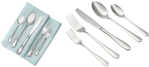 20 piece heavy duty stainless steel flatware set