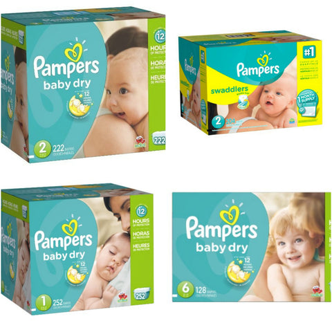 Huge sale on Pampers Diapers - many sizes