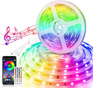 32.8ft Music Sync LED Strip Lights