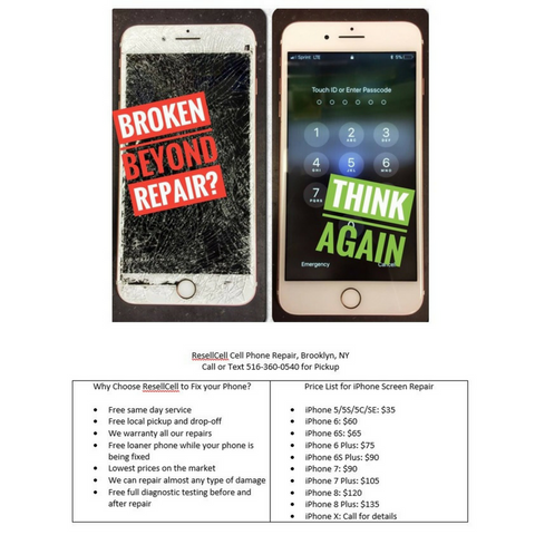 AD: Broken cell phone? Call ResellCell cell phone repair!
