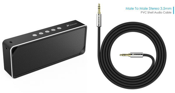 Portable Bluetooth speaker with FREE 3.5mm audio cable