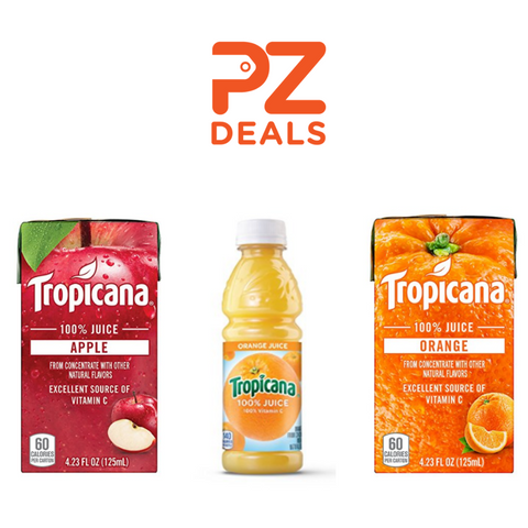 24 bottles of Tropicana orange juice or 44 Tropicana box drinks