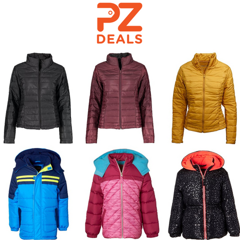Kids and women's puffer coats