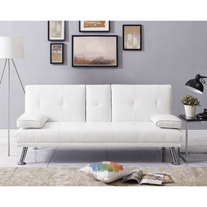 "Armengol 65.7"" Biscuit Back Convertible Sofa"