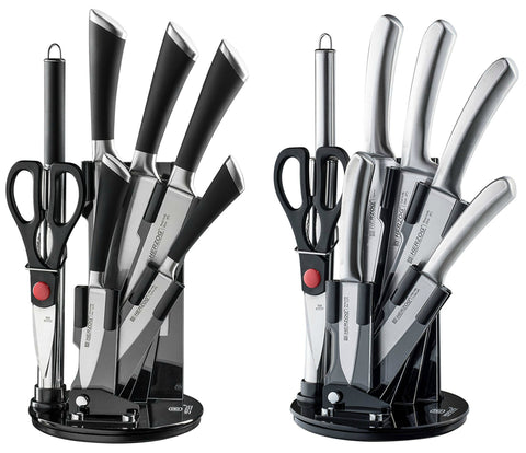 8 piece knife set with stand