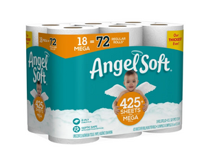 36 Mega Rolls Angel Soft Toilet Paper