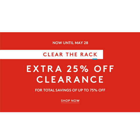 Up to 75% off Nordstrom Rack clearance sale