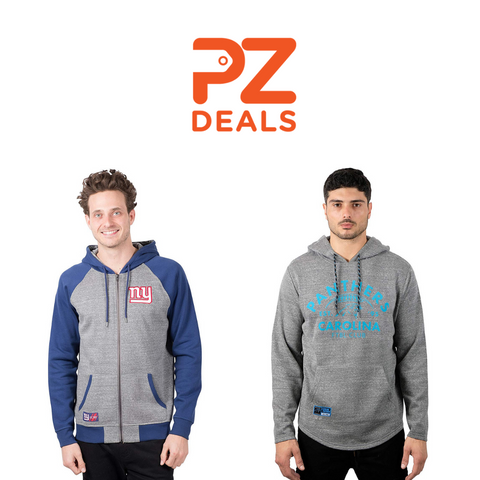 NFL full zip or pullover hoodies