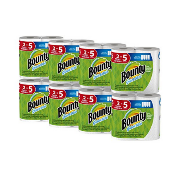 16 family rolls of Bounty paper towels