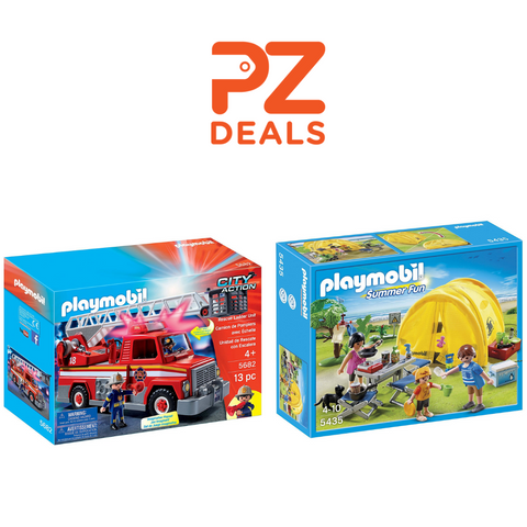 Playmobil Family Camping Trip and Resccue Ladder Unit On Sale