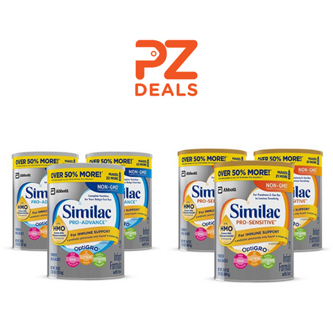 Pack of 3 Similac Pro-Advance Non-GMO Infant Formula with Iron