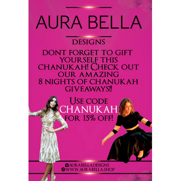 Amazing 8 nights of Chanukah giveaways at Aura Bella