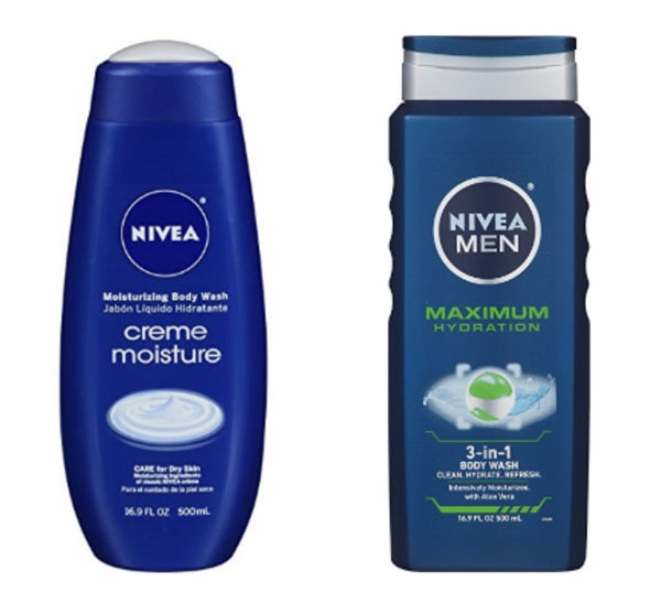 3 bottles of NIVEA moisturizer or 3 in 1 body wash
