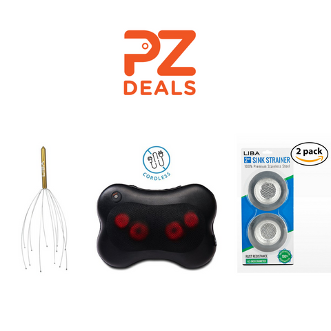 Massage pillow, 2 scalp massagers and 2 sink strainer