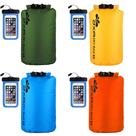 UltraLight dry sack with waterproof phone case