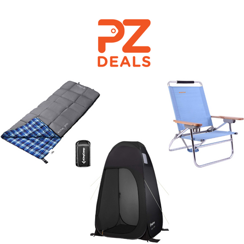 70% off sleeping bags, tents and beach chairs