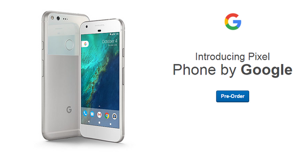 Pre-Order Google Pixel and get a $100 giftcard