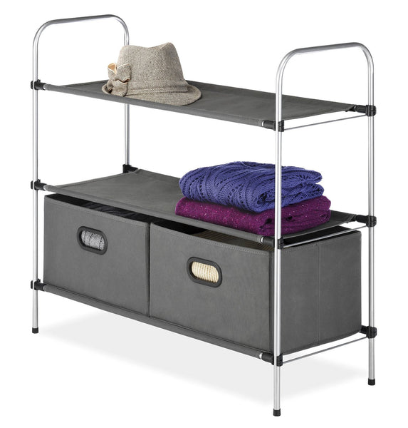 Whitmor Closet Organizer with 2 Shelves