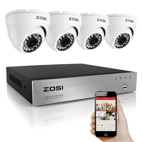 4 camera weatherproof surveillance system