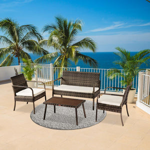 4 Piece Outdoor Patio Set (3 Colors)