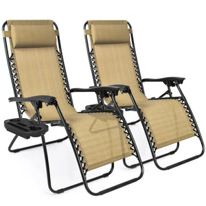 Set of 2 Zero Gravity Chairs (6 Colors)