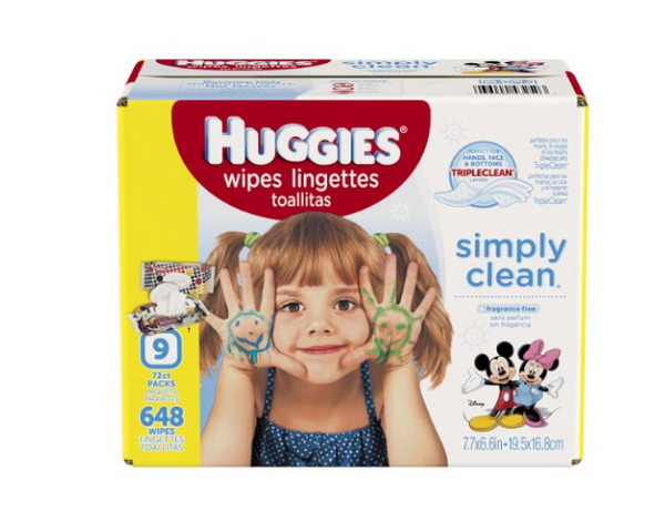 648 HUGGIES Simply Clean Baby Wipes