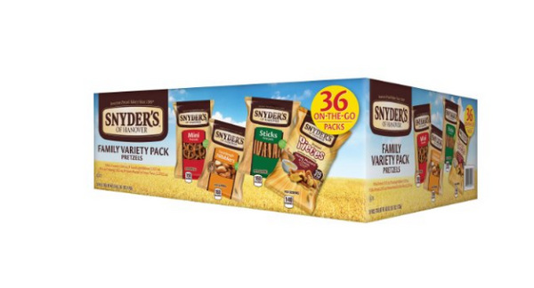 Pack of 36 Snyder's Pretzel Variety Pack
