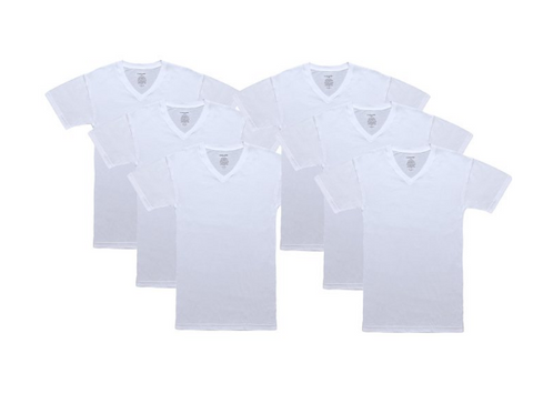BOGO! Pack of 12 100% Cotton V-Neck T-Shirt