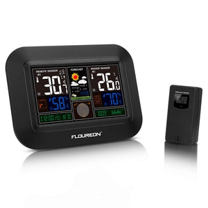 Wireless Indoor Outdoor Weather Station With Alarm Clock