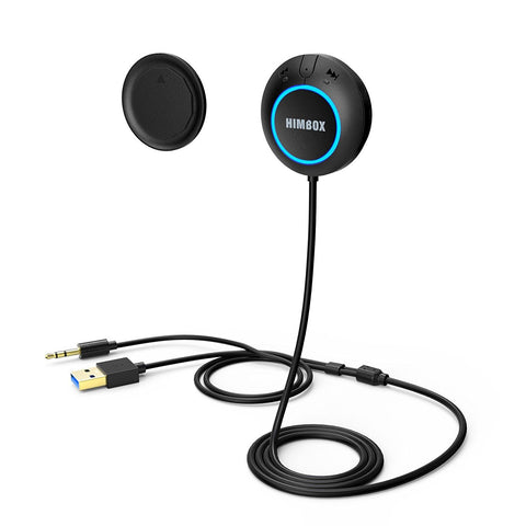 Hands-Free Car Kit Bluetooth Car Receiver with Magnetic Mounts