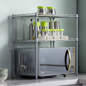 2 Tier Adjustable Kitchen Rack