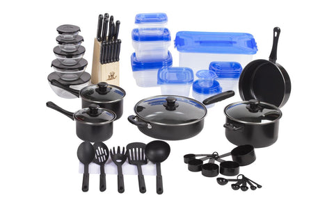 Cookware and Cutlery Starter Set (102-Piece)