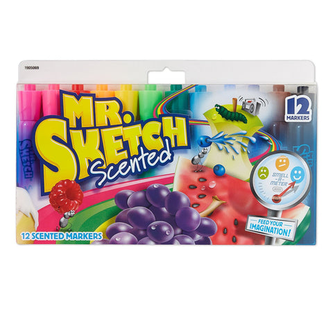Pack of 12 Mr. Sketch Scented Markers