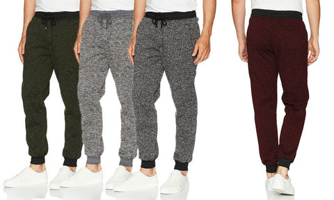 LR Scoop Men's Basic Fleece Marled Jogger Pants