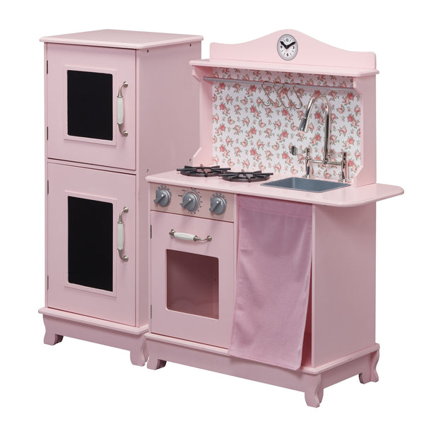 Teamson Kids - Sunday Brunch Wooden Play Kitchen – Pink