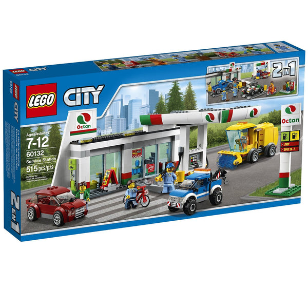 LEGO City Town Service Station Building Kit (515 Piece)