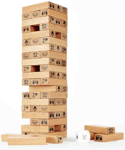 Hape Toppling Wooden Blocks Tower