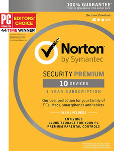 Symantec Norton Security Premium – 10 Devices