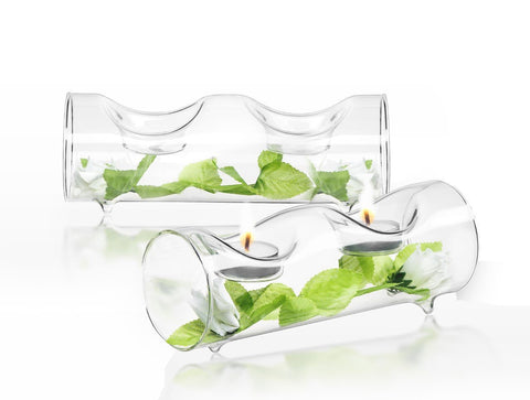 Set of 2 single or double candle holders