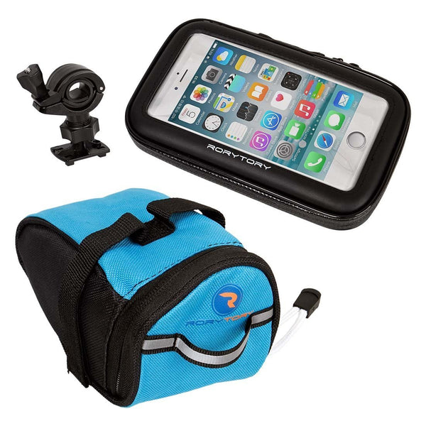 3 piece bike mount phone case with under seat pouch
