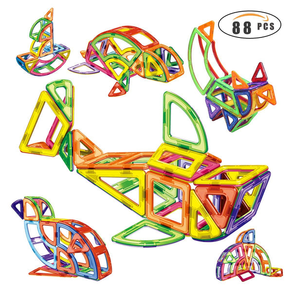 88 piece magnetic building blocks